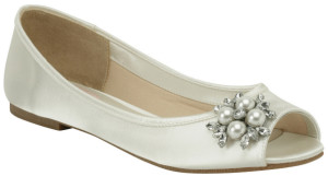 best ivory wedding shoes flats