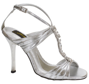 best silver evening shoes