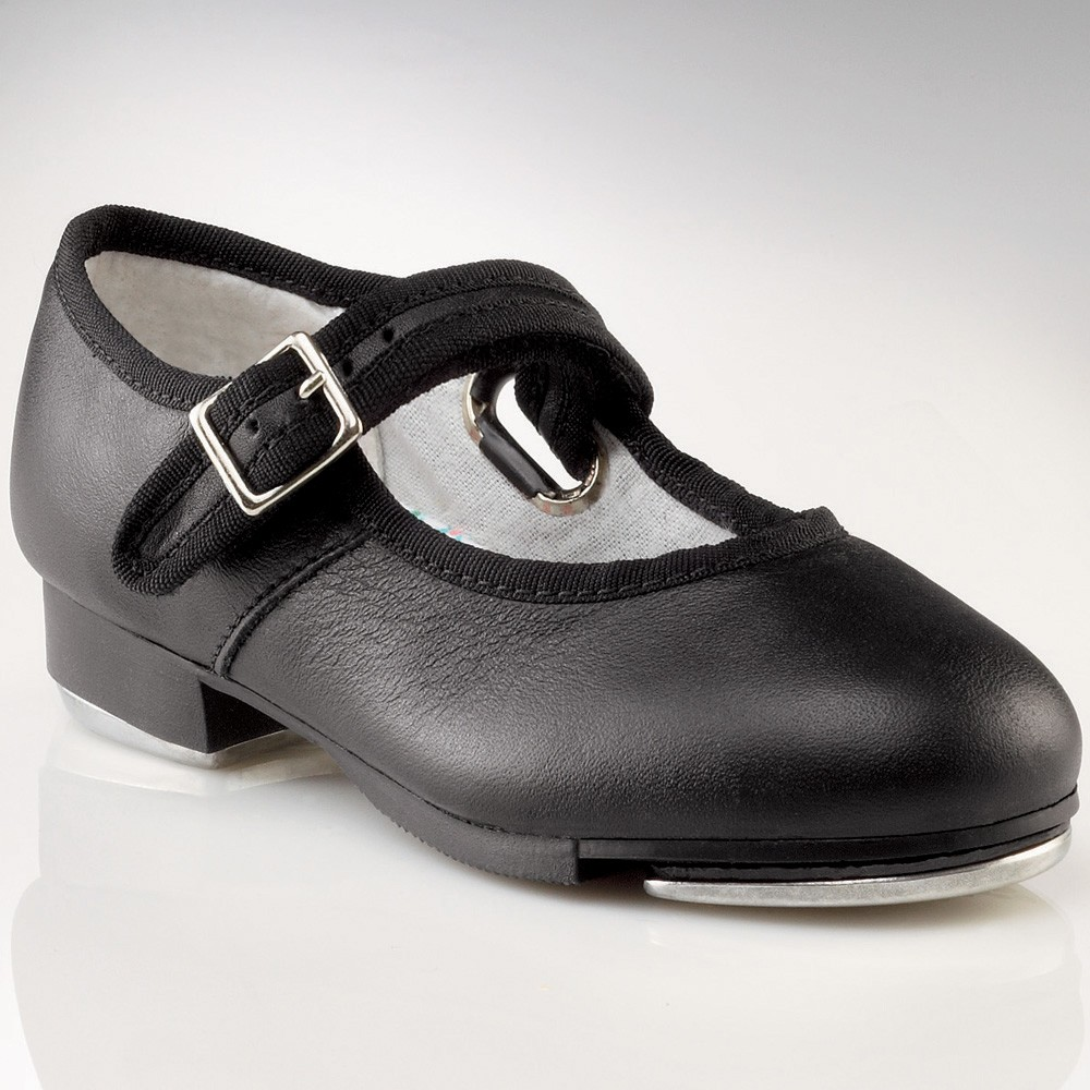 Toddler Black Patent Leather Tap Shoes