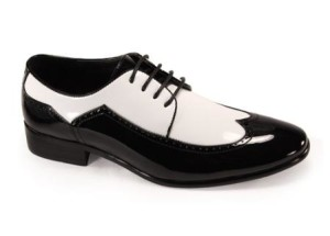 men dress shoes black and white