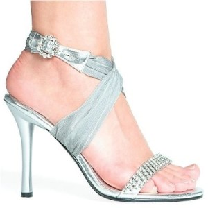 silver dress shoes for women